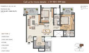 floor plan sobha city gurgaon