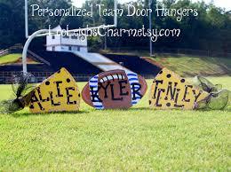 Engraved Football Gifts Football Door Hanger Cheerleader Gift Megaphone Sign Custom