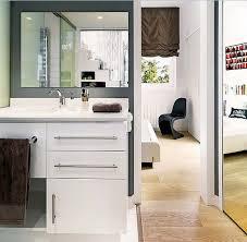 frameless mirror on white dressing table home interiors