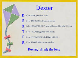 acrostic name poems for boys dexter