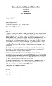 sample college teacher cover letters resume template example