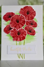remembrance day card using hero arts layering poppy a2z