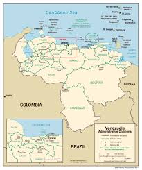 Map Scales Large Scale Administrative Divisions Map Of Venezuela 2007