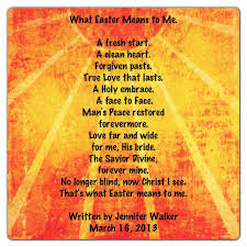 free easter poems what easter means to me by walker