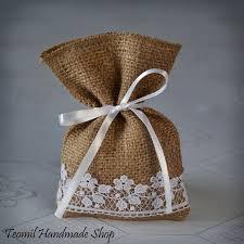 burlap wedding favor bags candy favor bag wedding burlap gift bag guest favor bag set