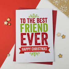 best friend christmas card by a is for alphabet