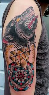 the 25 best wolf tattoo traditional ideas on pinterest