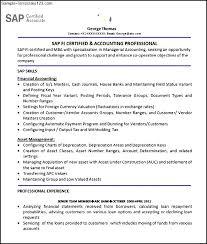 Sap Experience On Resume Sap Erp Resume 28 Images Ca Crm Erp Resume Sap Professional