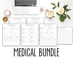 printable history quotes printable medical bundle medical history physician records