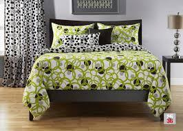 circle green king size bedding set