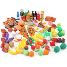 Plastic Toy Kitchen Set Amazon Com Liberty Imports 120 Piece Deluxe Pretend Play Food