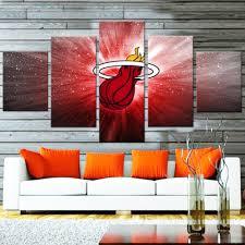 nba canvasist miami heat canvas set