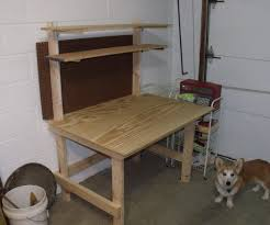 small table with shelves garage work table with attached shelves