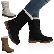 womens boots quilted dd15 womens quilted faux fur grip sole winter womens