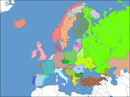 Map Of Europe 1600 Europe With National Borders According To Linguistic Lines Europe