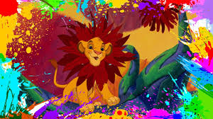 painting lion king coloring book pages kids paint