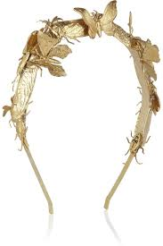 metal headband women s metallic milou embellished goldtone headband eugenia