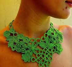crochet necklace patterns images Beautiful crochet necklace patterns and designs jpg