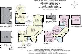 floor plan of the secret annex 5 bedroom detached house for sale in kingsdown nr bath sn13