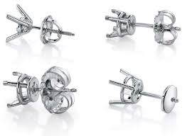 earrings with on backs guide earring backs moissaniteco moissanite rings and