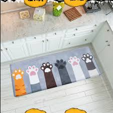 4 sizes cute cat claw printed mat doormats bathroom carpets floor