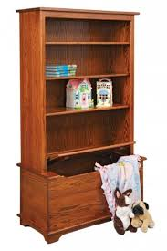 Toy Hutch Bookcase Shelves With Integrated Flip Top Toy Box Built In Idea