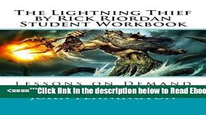 read the lightning thief by rick riordan student workbook lessons
