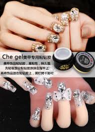 6g che gel nail art rhinestone gel glue use for nail tips
