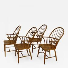 Hansen Patio Furniture by Frits Henningsen Set Of Two Highback Chair Ch 18 A By Frits
