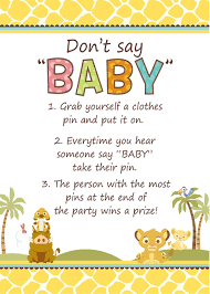lion king baby shower simba lion king baby shower don t say baby lion king baby