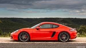orange porsche 2017 porsche 718 cayman s color lava orange us spec side