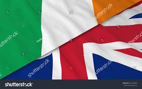 Irrland Flag Flags Ireland United Kingdom Split Irish Stock Illustration