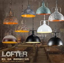 rustic industrial pendant lighting retro rustic industrial pendant light bar loft pot cover