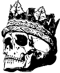 skull with crown free vector graphic on pixabay
