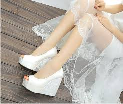 wedding shoes philippines wedge heel shoes makes wedding entry more special