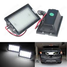 discovery 2 rear light conversion 2x licence number plate led light white land range rover sport