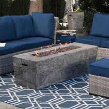 Patio Furniture With Fire Pit Set - red ember glacier stone 60 in gas fire pit table with free cover