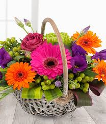 fruit flowers baskets fruit burst vibrant flower basket same day flower delivery uk