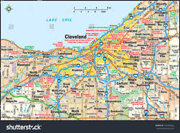 Map Of Dayton Ohio by Cleveland Ohio Area Map Stock Vector 144155623 Shutterstock
