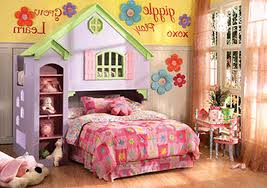 girls pink and purple bedding grey yellow wall theme and purple house bunk bed connected bu pink