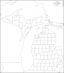 Map Michigan Counties by Michigan Free Map Free Blank Map Free Outline Map Free Base