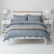 Chambray Duvet Buy John Lewis Chambray Ties Duvet Cover And Pillowcase Set Blue