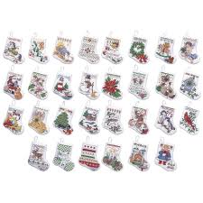 bucilla counted cross stitch ornament kit 84293 tiny
