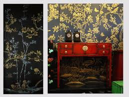 Hand Painted Wallpaper by Handpainted Chinese Wallpaper Chinoiserie Wallpaper Silk
