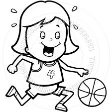 playing basketball clipart black and white clipartxtras