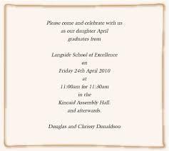 graduation announcement exles exles of graduation invitations badbrya graduation invitation