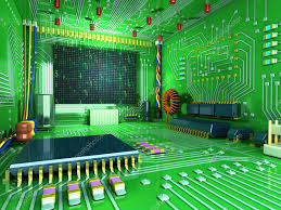 fantasy digital room futuristic home inside all in the interior