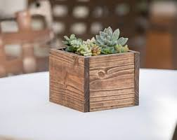 Small Wooden Boxes For Centerpieces by Reclaimed Wood Planter Box Centerpiece Home Garden And