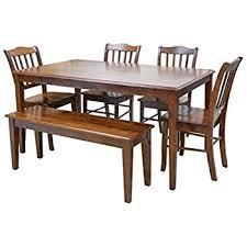 boraam bloomington dining table set amazon com boraam 21035 bloomington 6 piece dining room set black