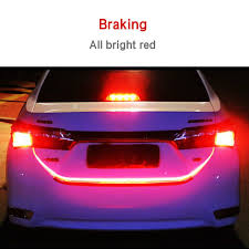 Auto Led Light Strips Car Led Tail Strip Light Trunk Tailgate Turn Signal Brake Flow